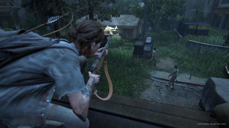 Ellie watching enemies - The Last of Us: Part II