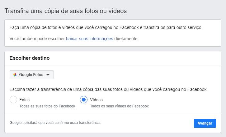 download photos facebook google photos