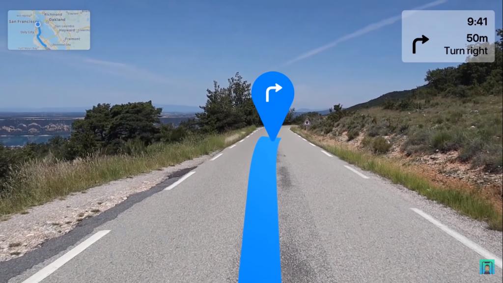 Maps App on Apple Glass