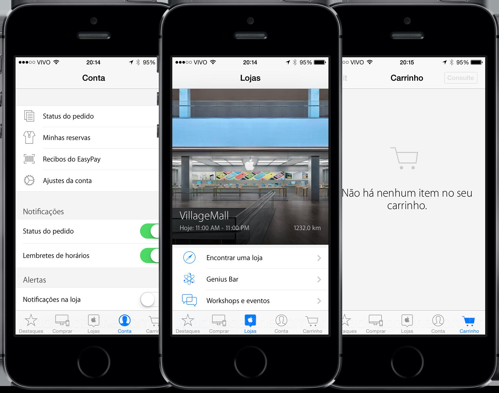 Apple Store app working in Brazil