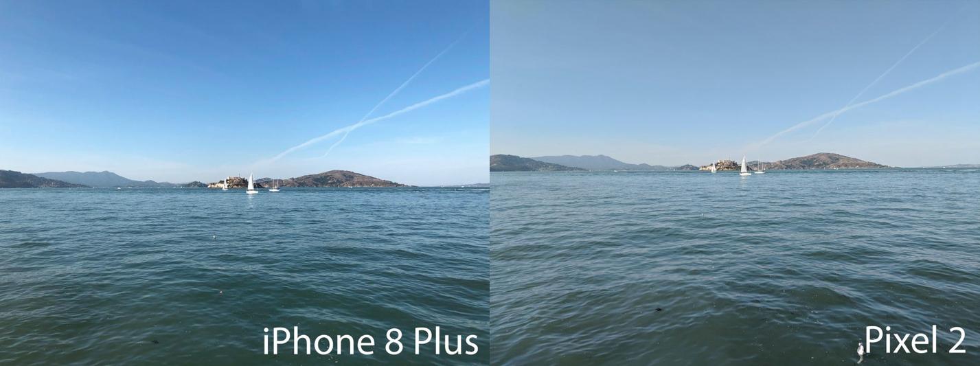 Camera comparison between iPhone 8 Plus and Google Pixel 2