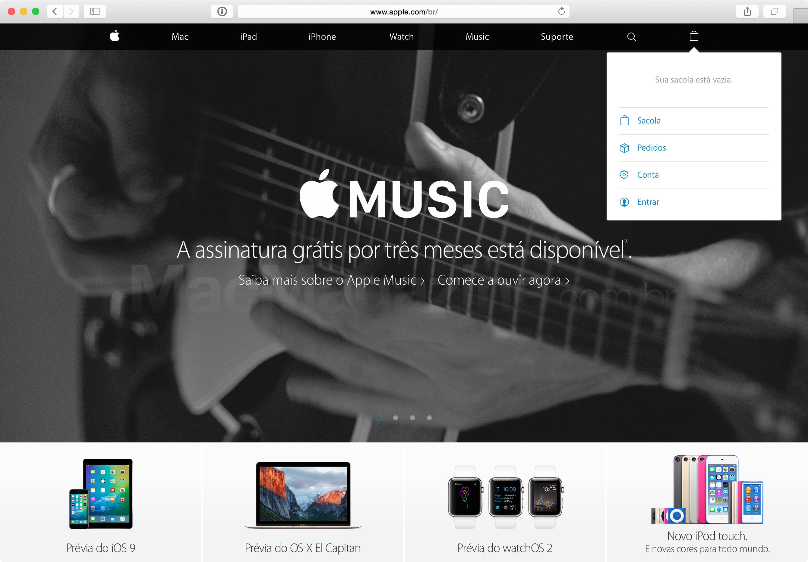 Apple integrated store website