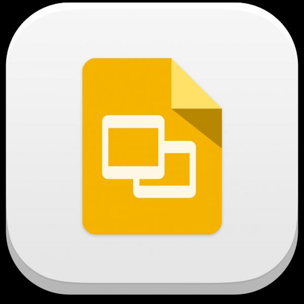 Google Presentations app icon for iOS