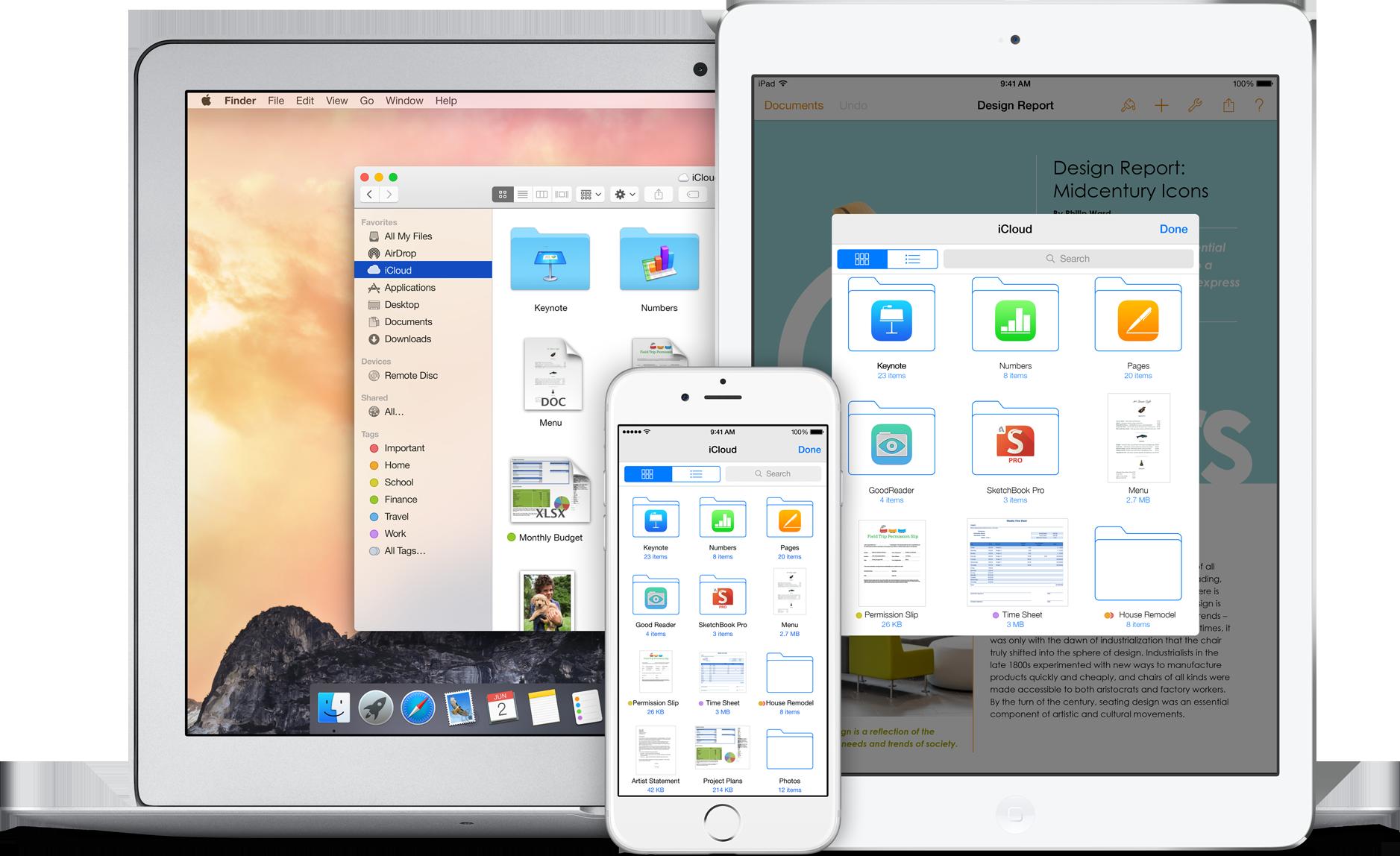 iCloud Drive on Mac, iPad and iPhone