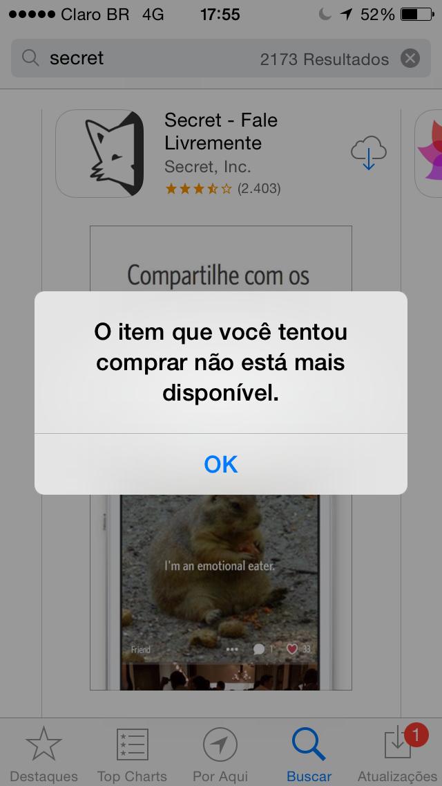 Secret removed in Brazil