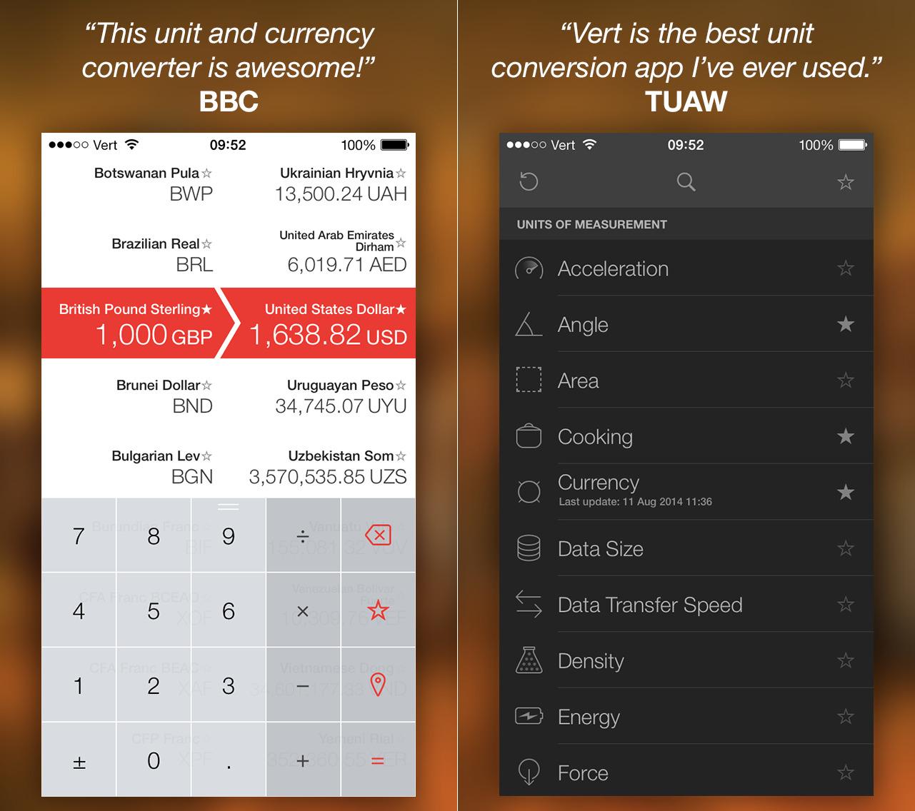 Vert app for iOS