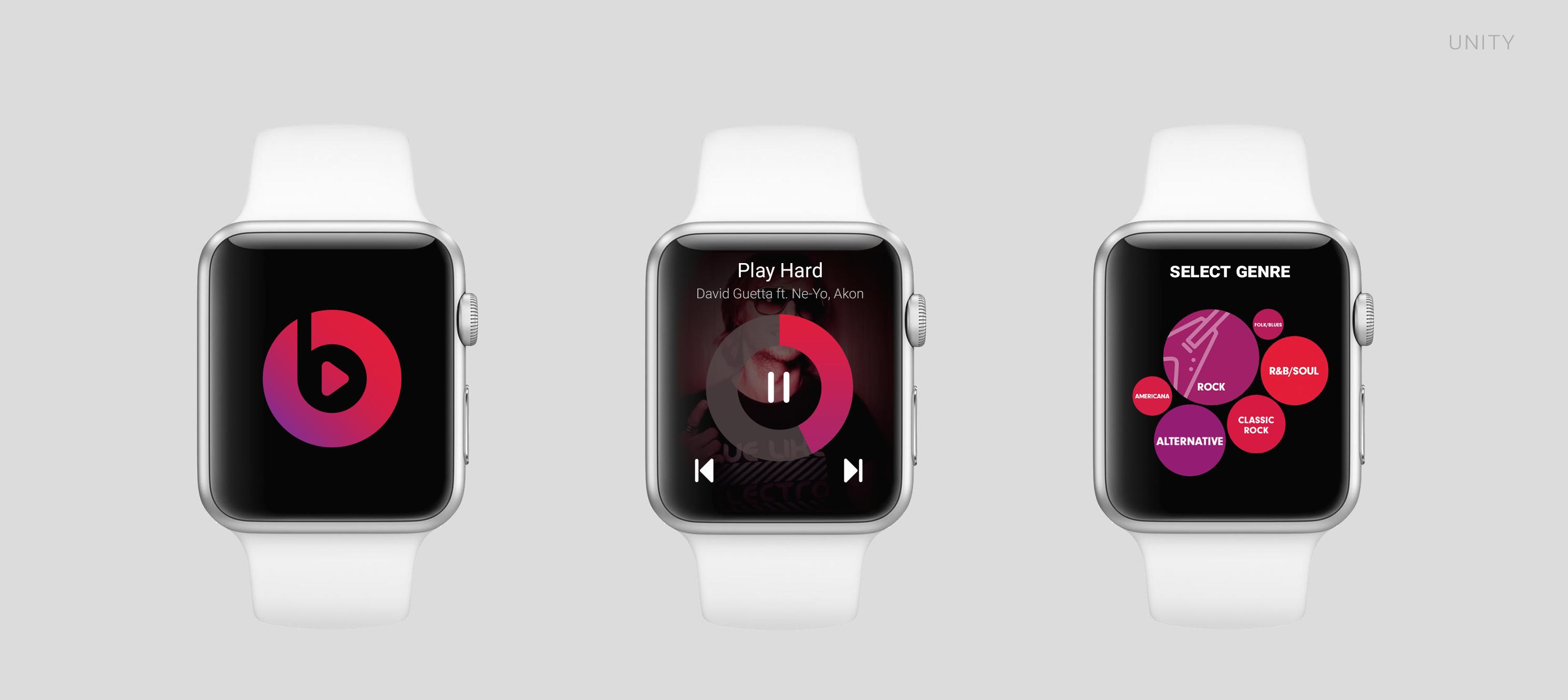 App concept for Apple Watch - Beats