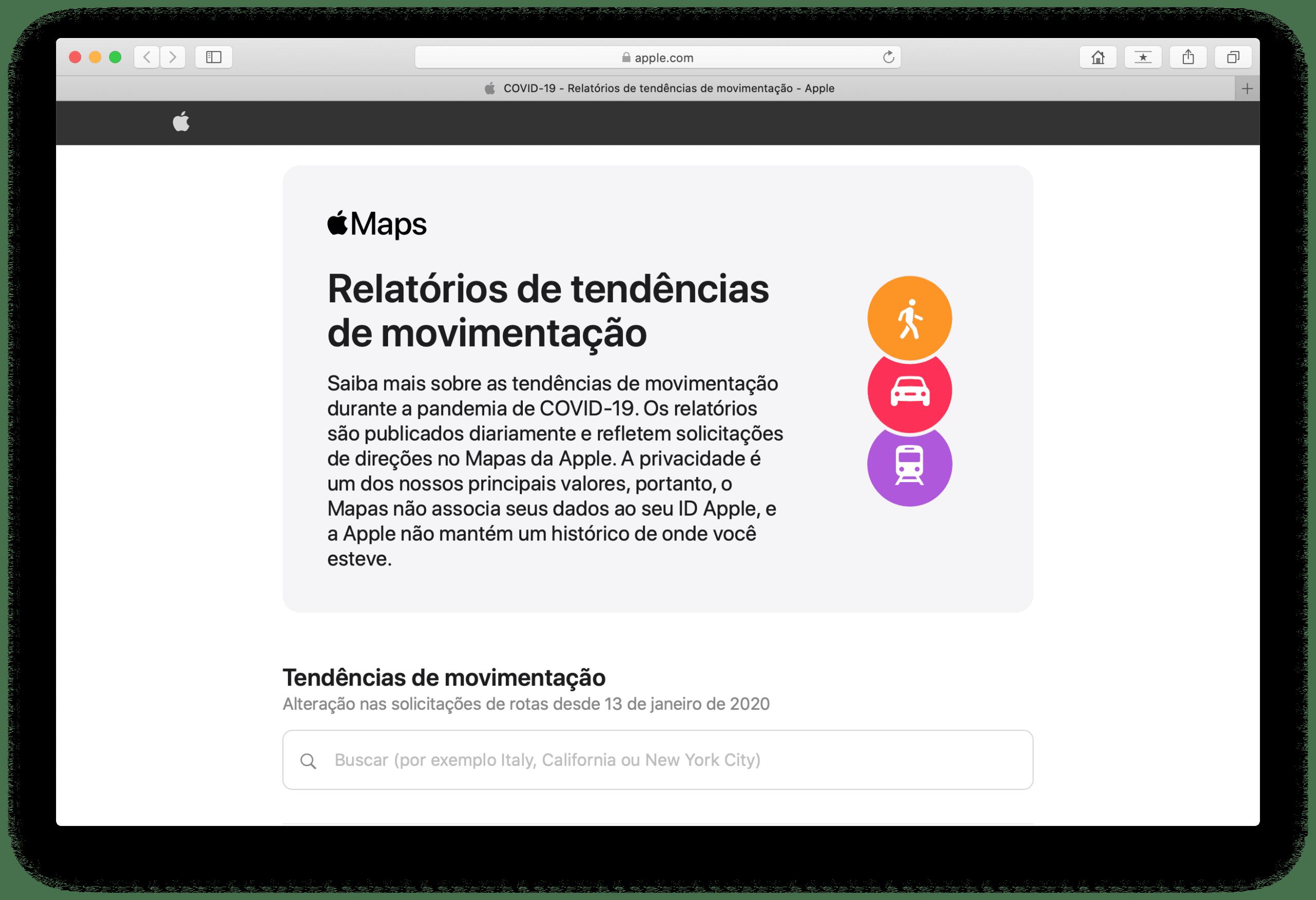 Apple movement trend reports