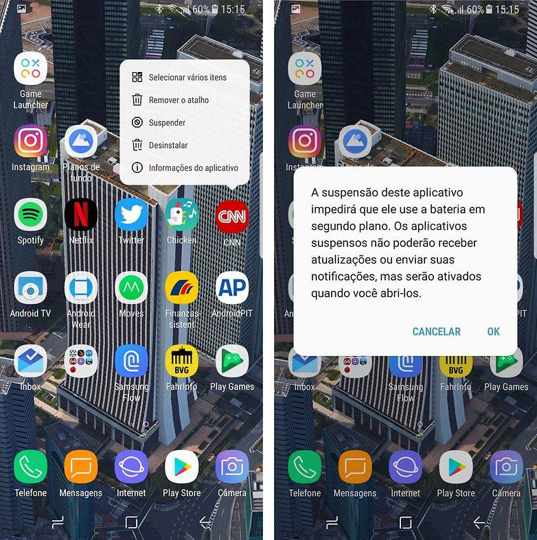 suspend apps galaxy s8