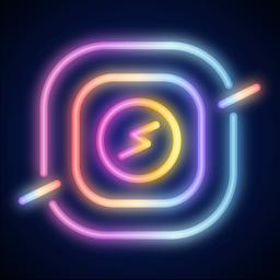 Challa NEON app icon: Video Story Maker