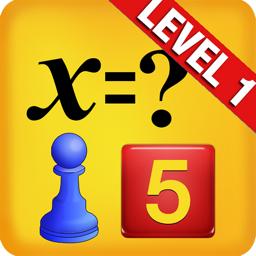 Easy algebra app icon for kids