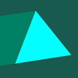 Trigono app icon - dangerous triangles