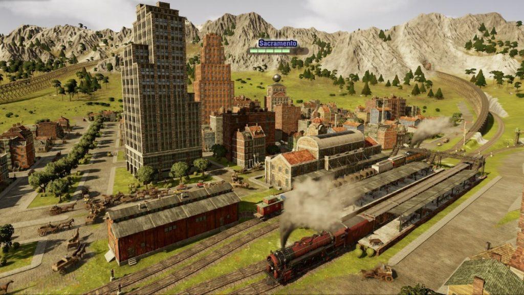 Railroad Train in Railway Empire