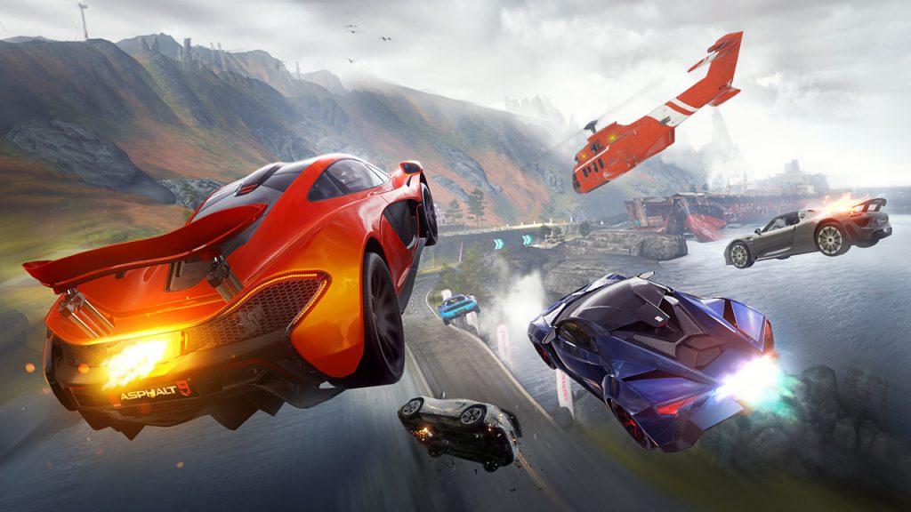 Cars racing on Asphalt 9: Legends