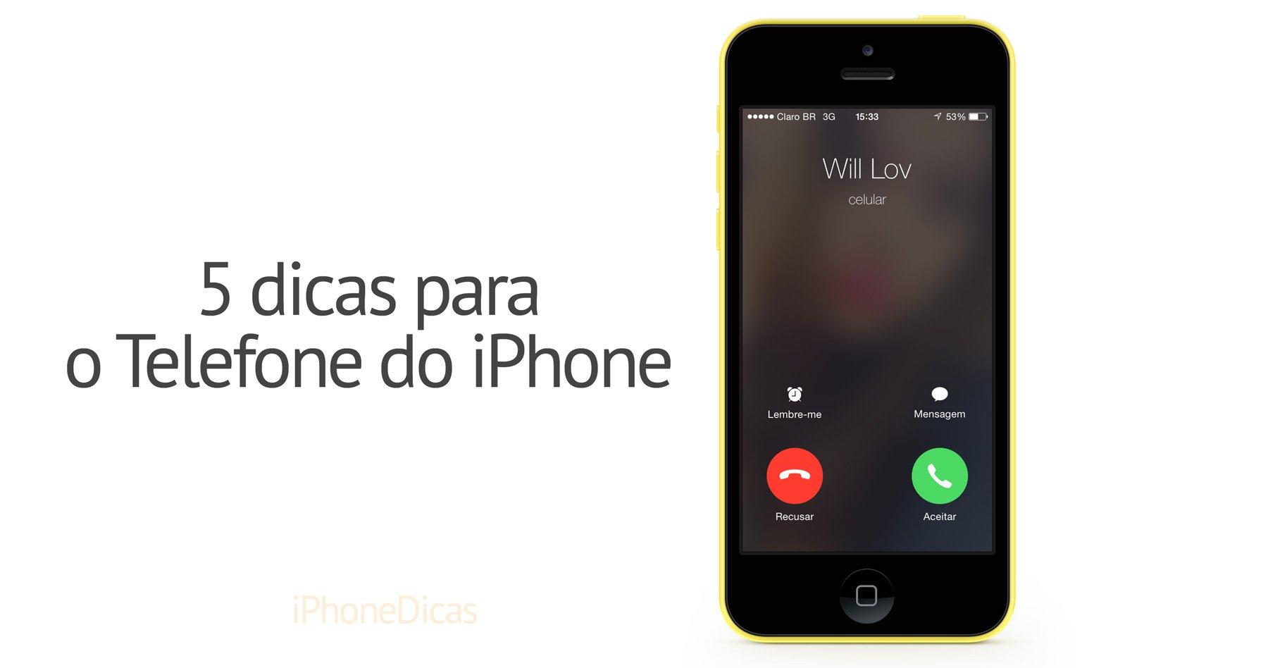 Dicas para o telefone do iPhone