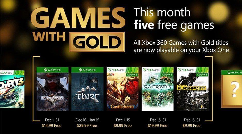 Games with Gold: 5 jogos grátis para dezembro 2015