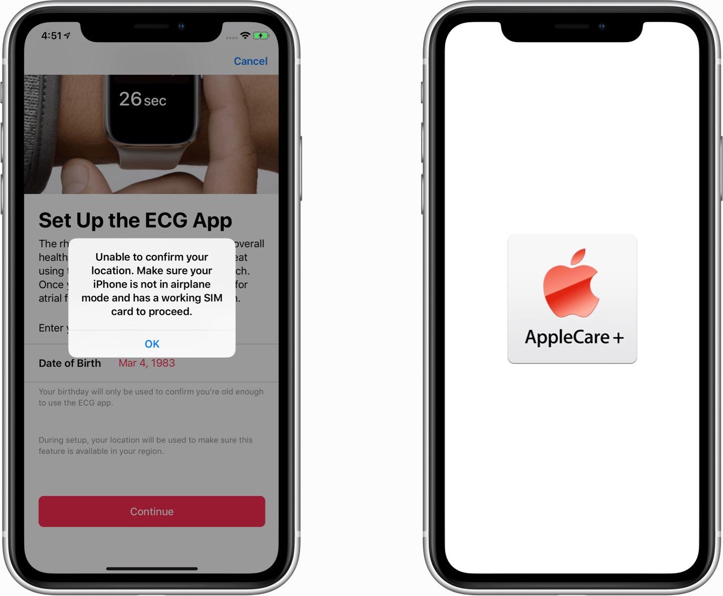 ECG e AppleCare - iOS 12.2 beta 5