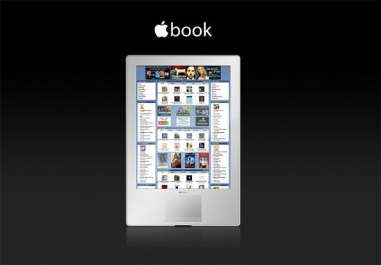 Apple eBook reader mockup