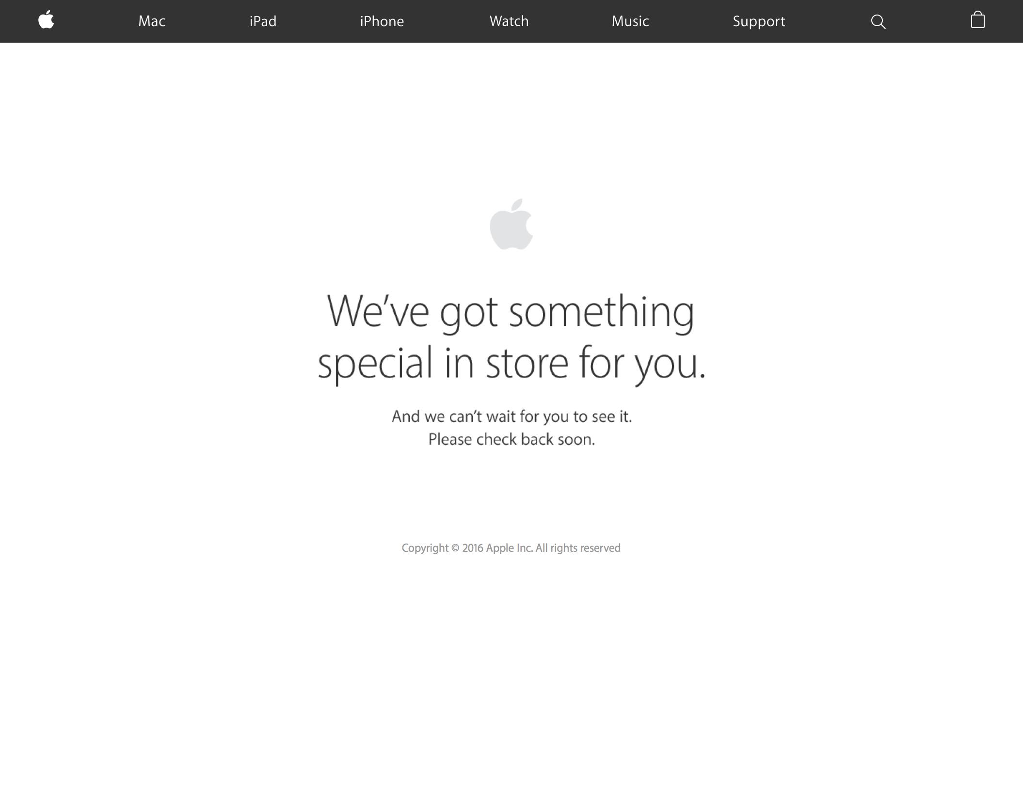 Apple online store down