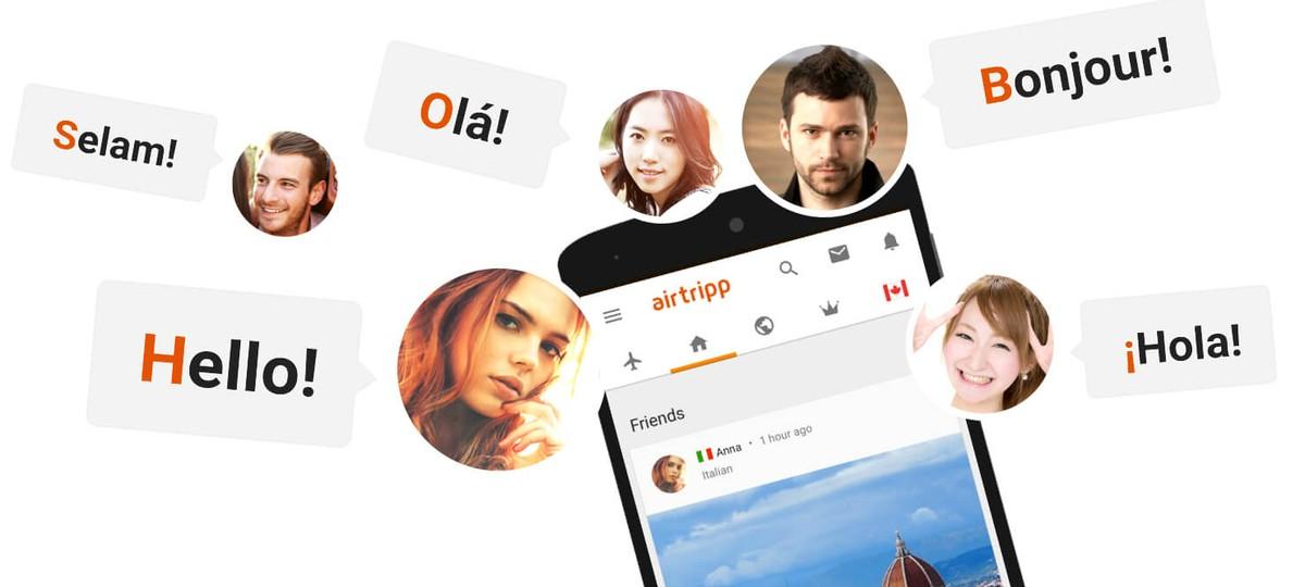 Aplikasi untuk bertemu orang-orang dari negara lain: belajar menggunakan Airtripp
