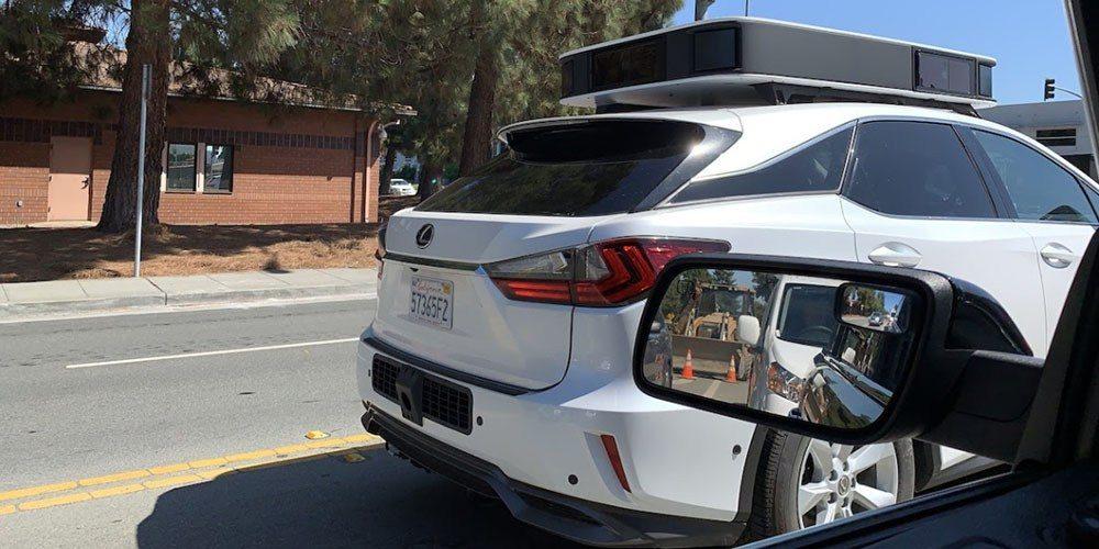 Autonomous Apple car appears on the streets with new sensor module