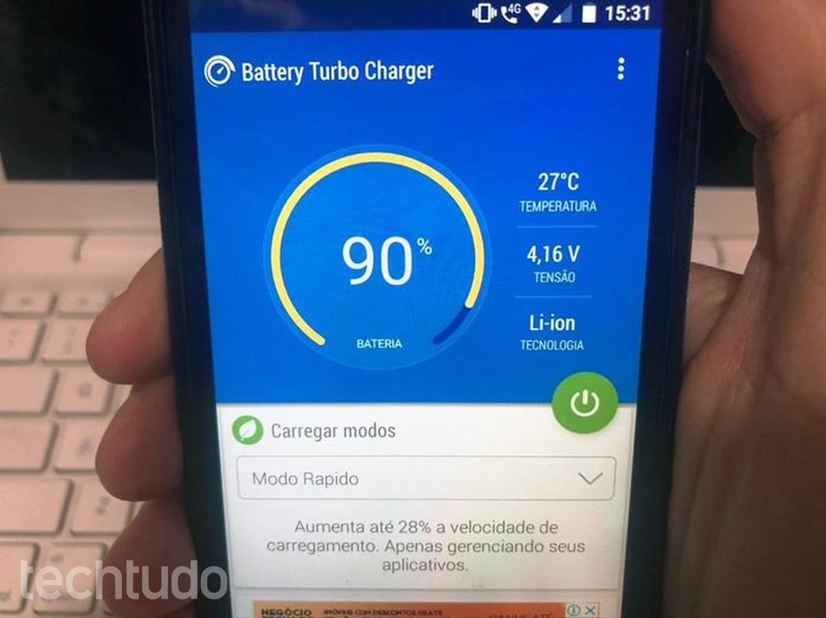 Aplikasi Battery Turbo berjanji untuk mengisi daya ponsel lebih cepat;  lihat cara menggunakan