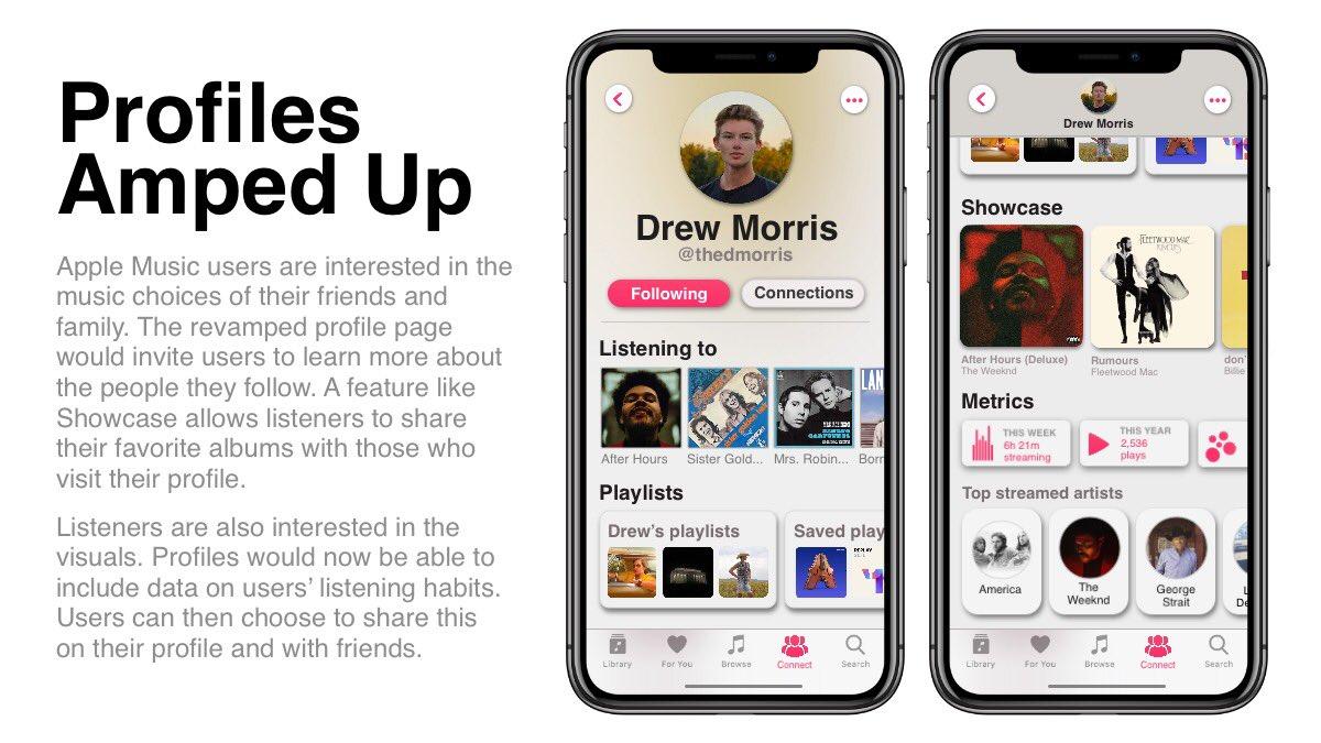 Conceito de atualização do Apple Music por Drew Morris