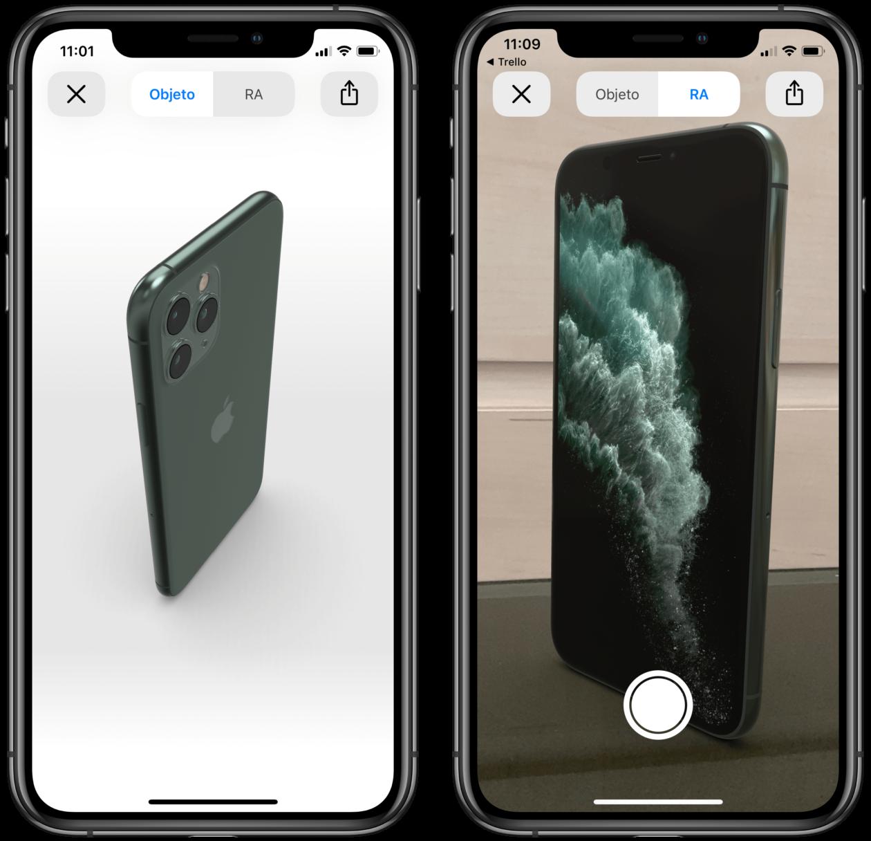 iPhone 11 Pro on AR