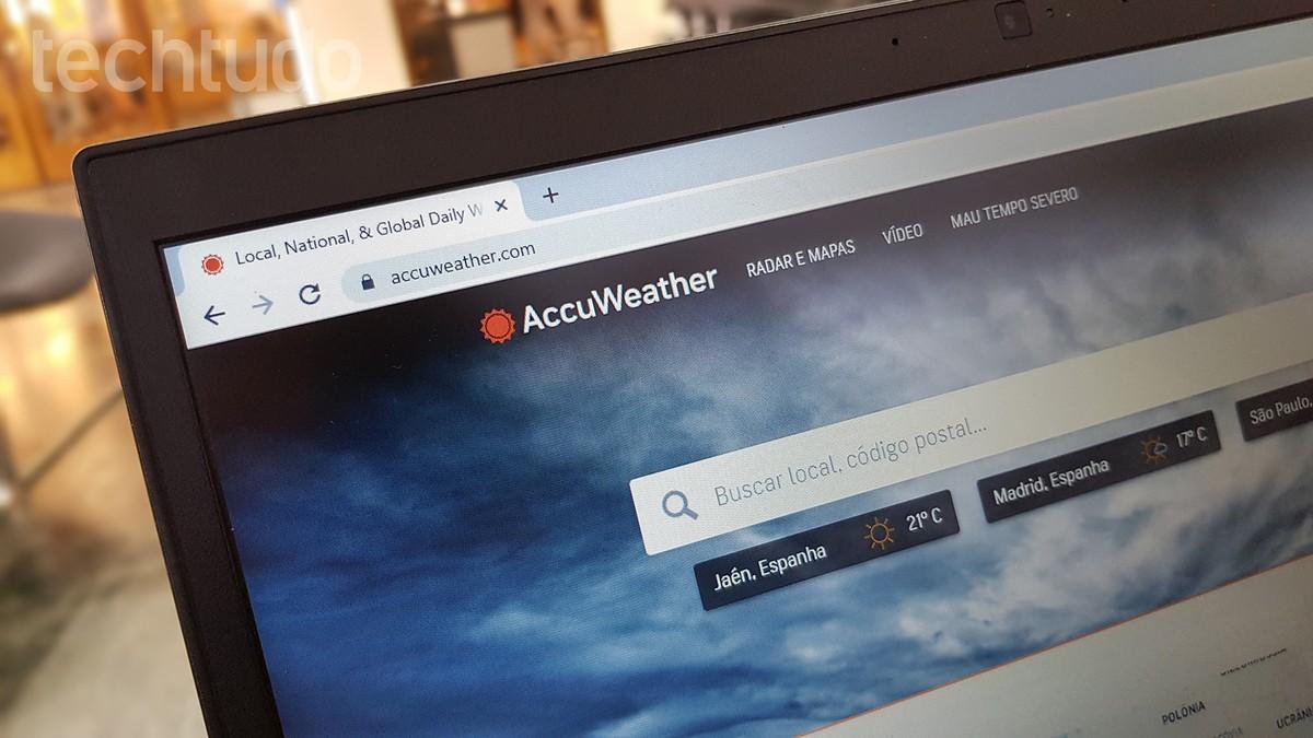 AccuWeather: Cara melihat perkiraan cuaca di situs web