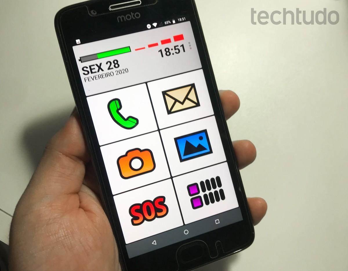 Big Launcher: aplikasi tua meninggalkan ponsel dengan ikon besar