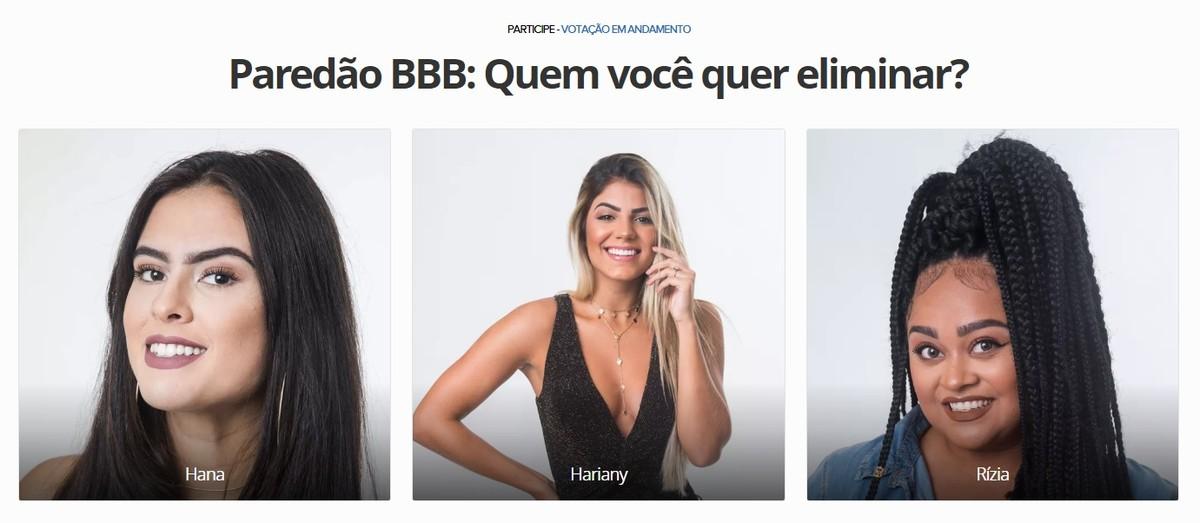 BBB 2019: cara memilih untuk menghilangkan Hana, Rízia atau Hariany