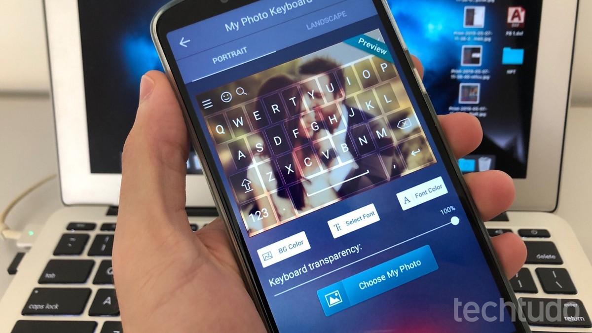 Aplikasi untuk meletakkan foto di keyboard: belajar menggunakan My Photo Keyboard