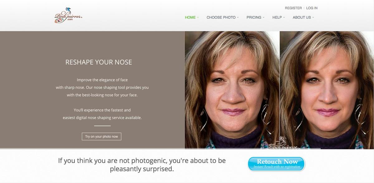 Aplikasi peringkat kecantikan: editor foto menyentuh web