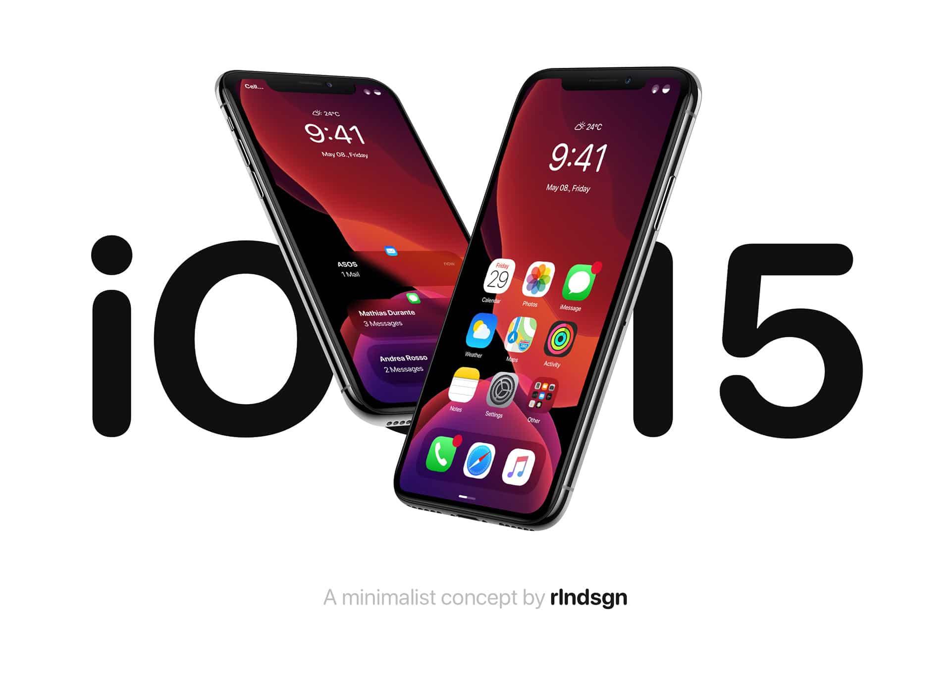 Conceito do iOS 15 por Roland Mészáros